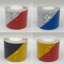 Adhesive-Tape Reflective Bike-Stickers for Safety White Red Yellow 5cmx1m