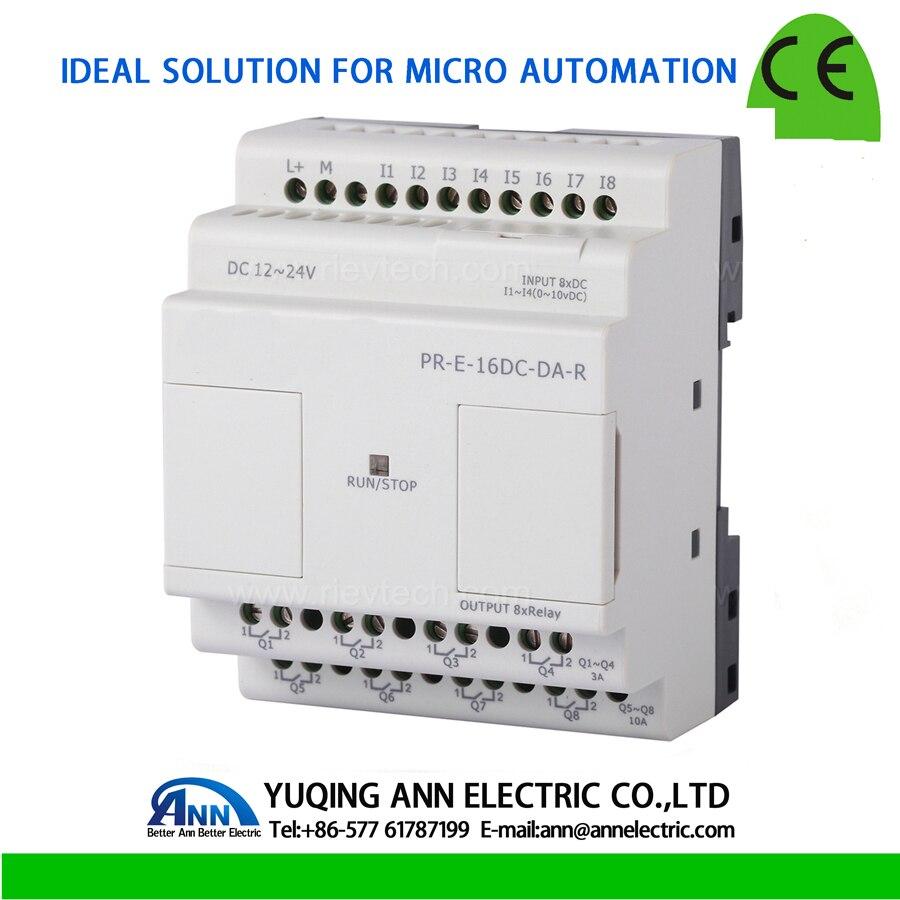 PR-E-16DC-DA-R,expansion module, Programmable logic controller,smart relay,Micro PLC controller , CE ROHS expansion module elc md204l text panel