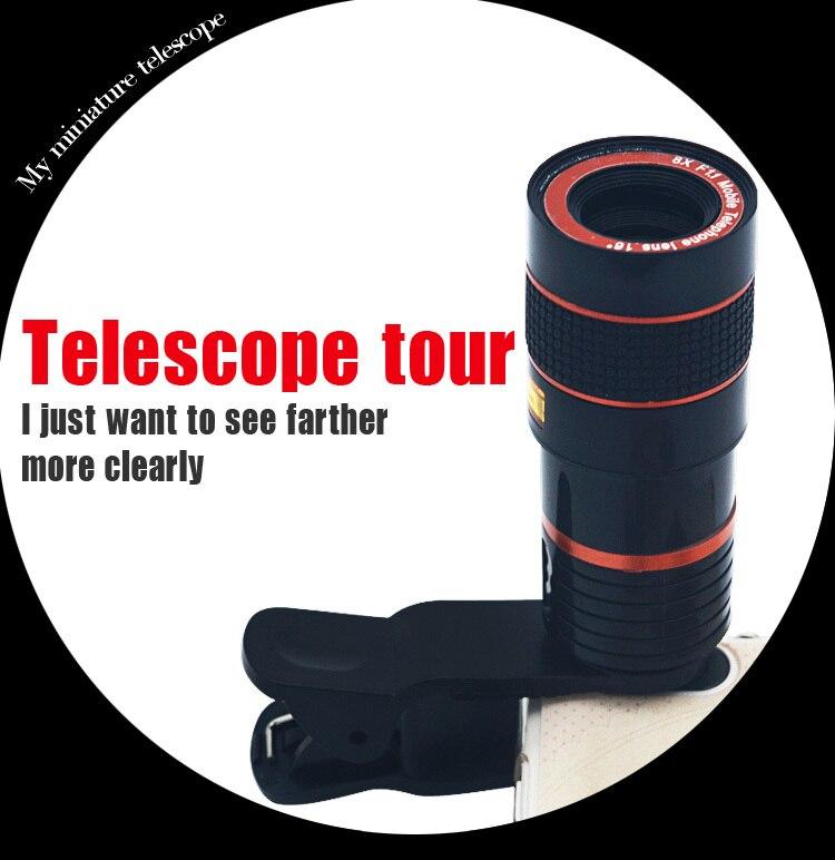 2016 Venta caliente Universal selfie stick monopod + 8X Zoom - Accesorios y repuestos para celulares - foto 3
