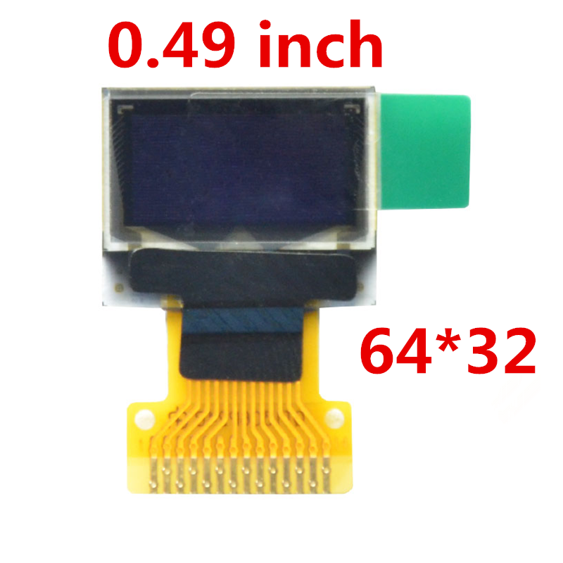 0.49 Inch OLED Display 64*32 IIC/SPI white blue14 pin LCD SSD1306 Driver Passive Matrix for arduino Diy Kit