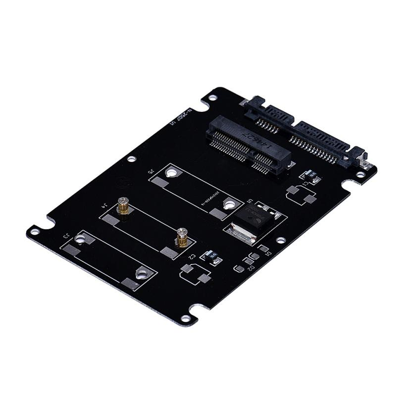 2017 Universal Standard Mini pcie mSATA SSD To 2.5 Inch SATA3 Adapter Card With Case Top Sale for PC Computer