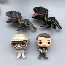 Original Funko pop de Segunda Mano Mundo Jurásico Indoraptor dinosaurio John Owen vinilo figura de acción colección modelo suelto juguete