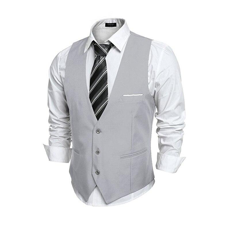 Custom Made New Style Men's V-neck Sleeveless Slim Fit ...