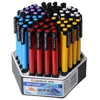 0.7mm 24/60 pces tinta azul pressionando esferográfica canetas estudantes da escola artigos de papelaria acessórios de escritório suprimentos boligramos canetas canetas