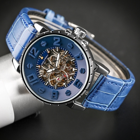 Keller & Weber Men Watch Mechanical Top Luxury Fashion Brand Leather Man Sport Watch Mens Automatic Watch Relogio Masculino Lahore