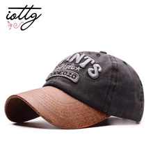 5d5ac89a0142c IOTTG Retro Washed Baseball Cap Giants Letter Embroidery Snapback Hats  Vintage Adjustable Spring Summer Caps(