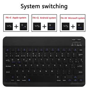 Image 4 - Spanisch Tastatur Fall Für Samsung Galaxy Tab EINE 10,5 2018 SM T590 SM T595 T590 T595 Tablet Dünne Leder Abdeckung Bluetooth Tastatur