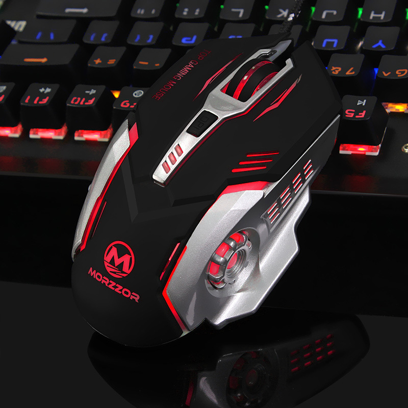 Mode baru 6 tombol 3200 dpi, Usb kabel profesional Mouse gaming, Gamer optik, Tikus tikus untuk PC Laptop komputer Pro Gamer