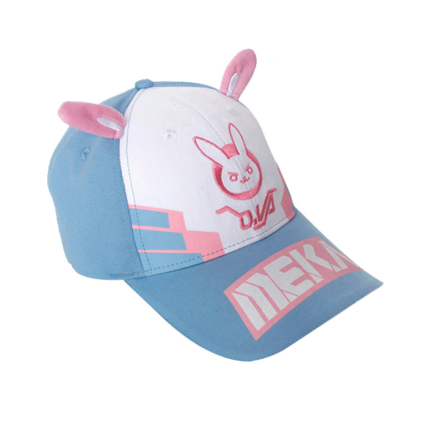 2f482aaf898 Kawaii Game OW D.va DVA Rabbit Ear Baseball Cap Cosplay Adult Unisex  Cartoon Embroidery Snapback Hat Casual Cap Adjustable Hat-in Baseball Caps  from Apparel ...