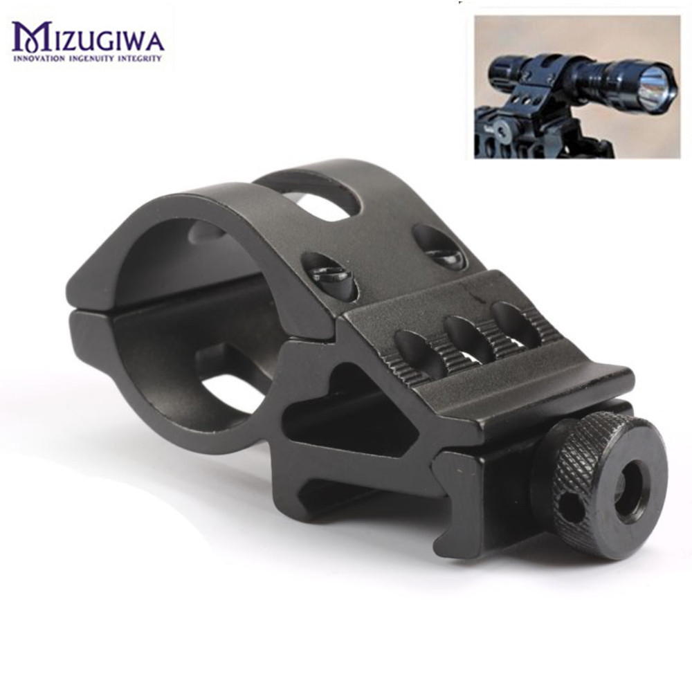 Tactical 45 Degress 25mm/30mm Offset Ring Rifle Flashlight Torch Laser Mount Picatinny Rail 20mm Weaver Hunting Accessories Caza