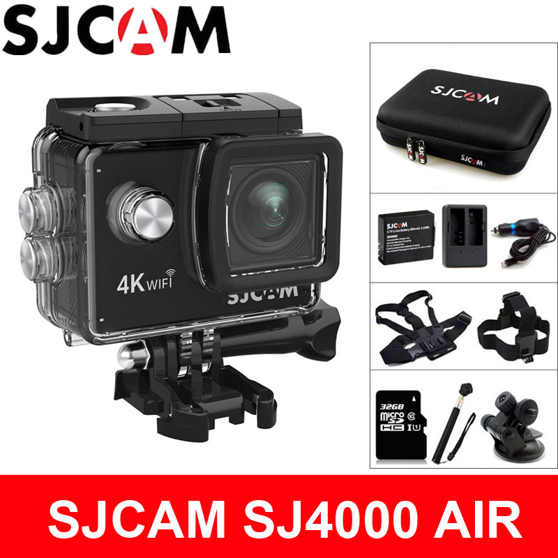 SJCAM SJ4000 AIR Action Camera Deportiva 4K@30FPS WiFi 2.0 inch LCD Screen Diving 30m Waterproof SJ 4000 Cam Extreme Sports DV 4k 30fps action camera wifi 1080p uhd 2 0 lcd screen 30m waterproof diving 170 degree sport action camera dv camera