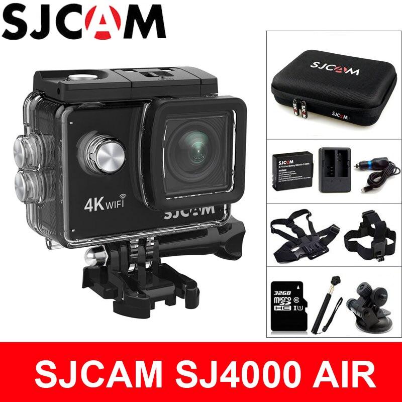 SJCAM SJ4000 aire cámara de acción Deportiva 4K @ 30FPS WiFi 2,0 pulgadas pantalla LCD de 30 m impermeable SJ 4000 Cam Extreme DV deportes
