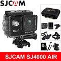 Sjcam câmera de ação sj4000 air, câmera deportiva 4k @ 30fps wi-fi, tela lcd de 2.0 polegadas, mergulho 30m à prova d' água, sj 4000 cam dv esportes radicais