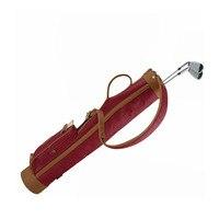Tourbon винтажная сумка для гольфа холст и кожа Карандаш Стиль 24 унции пушка для гольфа клубов Перевозчик Обложка 78 см винно красный Sunday спорти