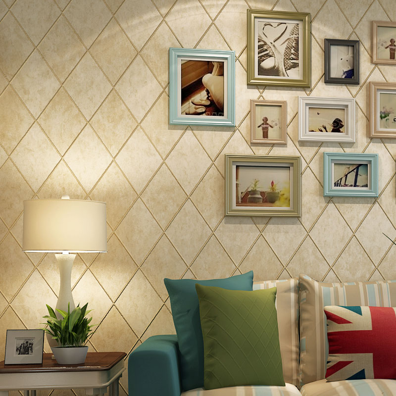 beibehang American retro wall paper 3D fashion papel de parede bedroom background wall desktop wall paper rolls 3d flooring