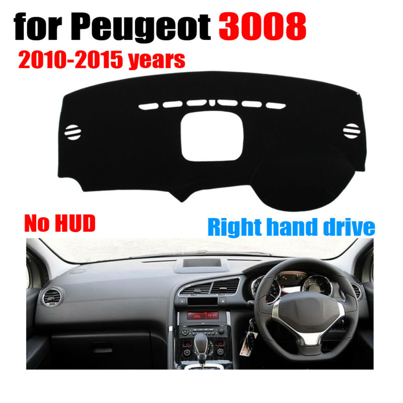 Dashboard Mat Cover Car Avoid Light Pad for Peugeot 3008 2010-2015 Left Hand