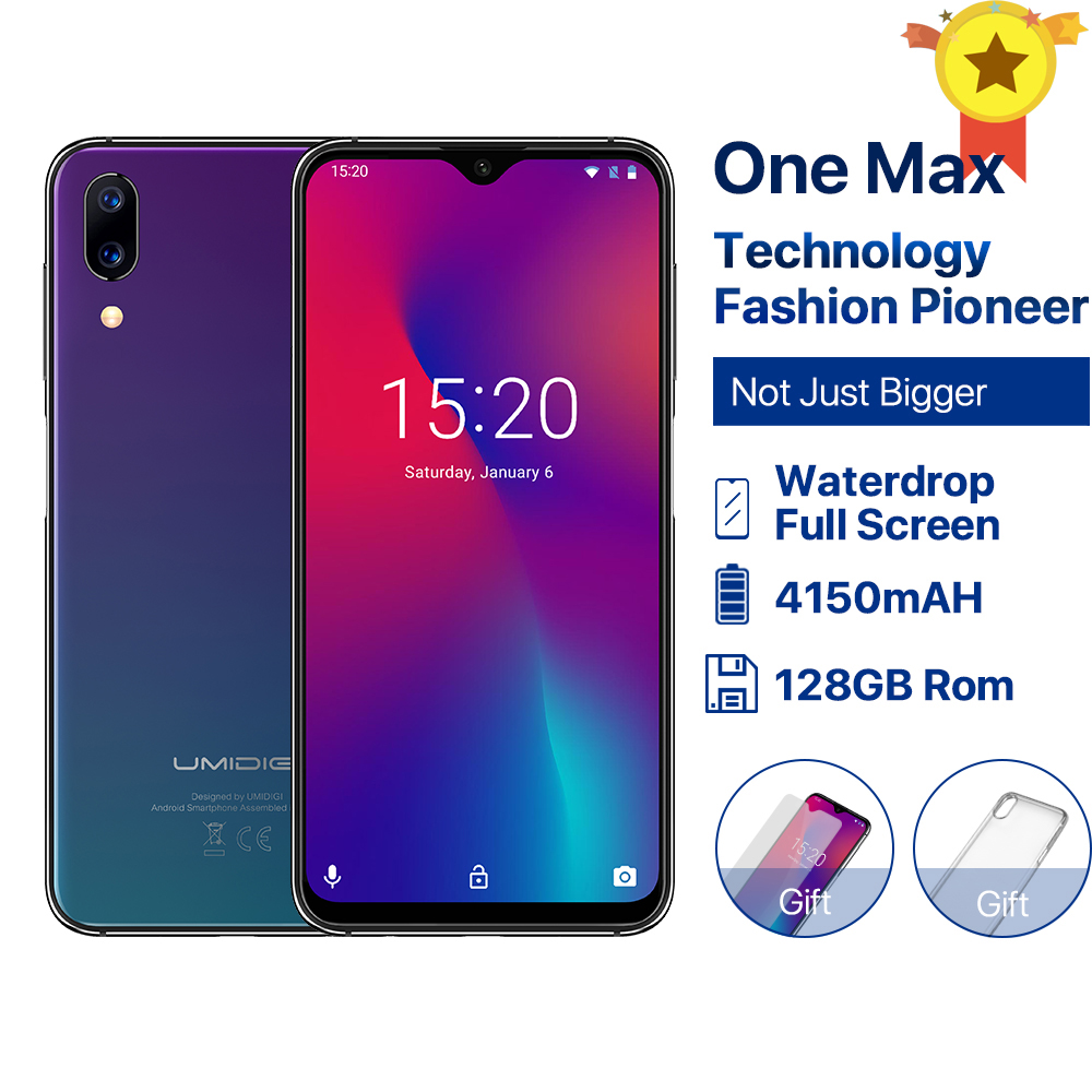 UMIDIGI One Max 4GB 128GB Android 8 1 Mobile Phone 6 3 Face Unlock Fingerpringt ID