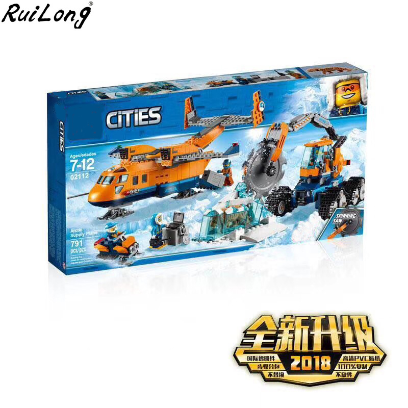 NEW City Series Arctic Air Transportation Supply Plane Compatible LegoINGLY City 60196 Building Blocks Model Toys Children Gift lepin 02112 new city series the arctic supply plane set 60196 building blocks bricks legoinglys toys model boy christmas gifts