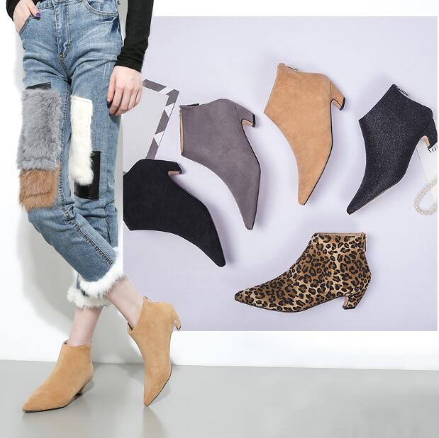 Femmes Fur Bottines black black Fur Aa1011 Fur grey Fur Pompes leopard Des 40 Grey leopard Chaussures 41 Nouvelles A forme Plate Mode Lady Taille beige black Talons beige A CWrdxBeo