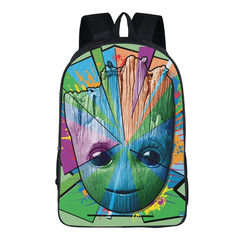 16 Inch New Arrival Guardians of The Galaxy Backpack Anime Groot School Bags for Young Student Free Shipping new funko pop guardians of the galaxy tree people groot