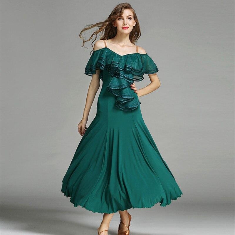 3 Kleuren Rood Flamenco Jurk Spaanse Dans Kostuum Ballroom Danswedstrijd Ballroom Dance Jurken Waltz Tango Zwart Voorzichtige Berekening En Strikte Budgettering