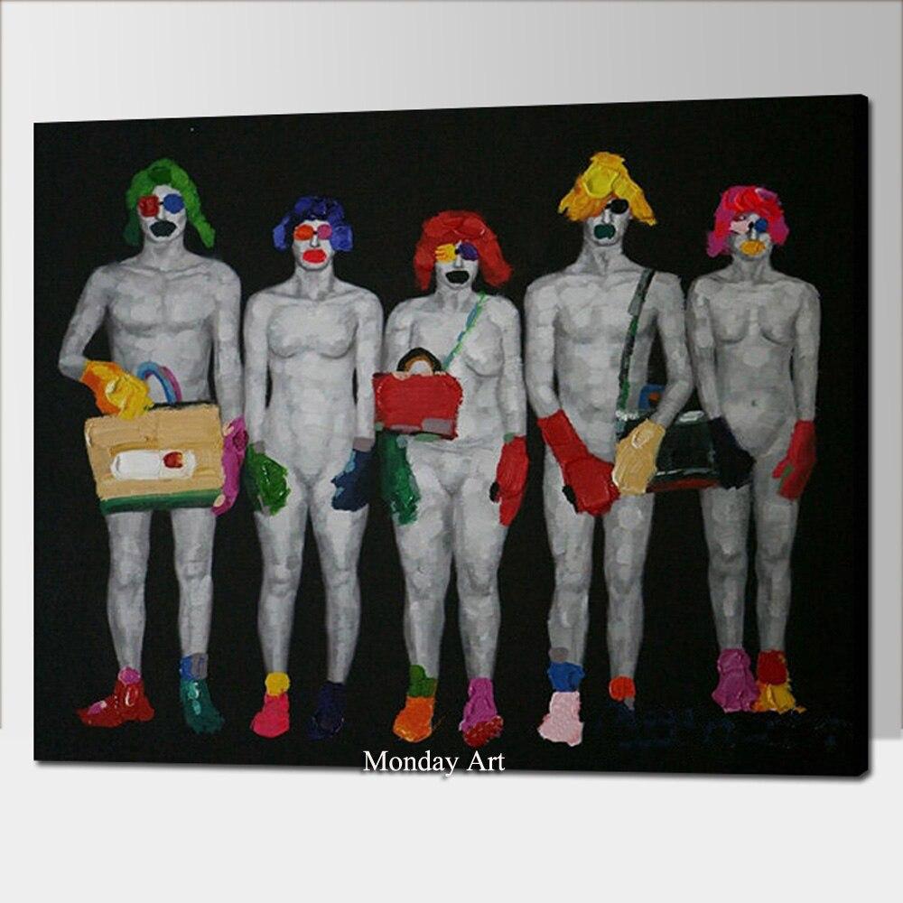 de Impressão Nude Retrato Da Arte para