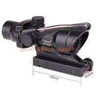 Trijico ACOG 4x32 Optics Sight Red Fiber Optical Scope Duel Illuminated Riflescope Airsoft Hunting Rifle Shotgun