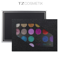 TZ 21 Colors Glitter Eyeshadow Palette Glitter Lip Gloss Diamond Powder Makeup Glitter Eye Shadow Make