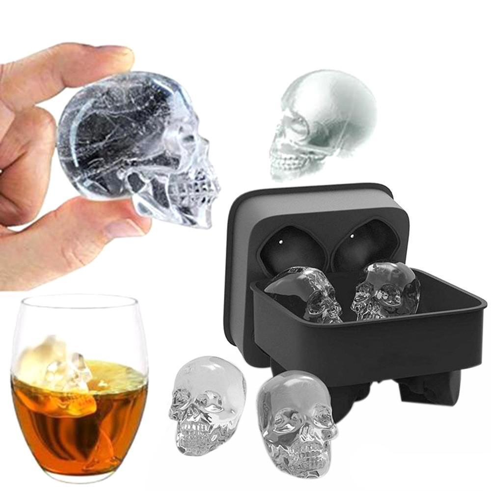 3D Silicone Skull Ice Mold