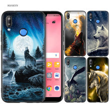 Silicone Case Cover for Huawei P20 P10 P9 P8 Lite Pro 2017 P Smart+ 2019 Nova 3i 3E Phone Cases Wolf dragon animals(China)