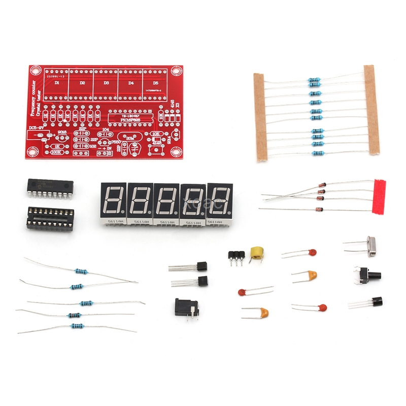 1Hz-50MHz Crystal Oscillator Frequency Counter Meter 5-Digital LED Display Kit M05 dropship 20pcs active crystal smd crystal oscillator osc crystal 5032 5 3 2 48 000mhz 48mhz