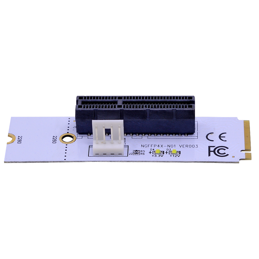 Image 5 - CHIPAL NGFF M.2 to PCI E 4X Riser Card M2 Key M to PCIe X4 Adapter with LED Voltage indicator for ETH Bitcoin Miner Mining-in Computer Cables & Connectors from Computer & Office