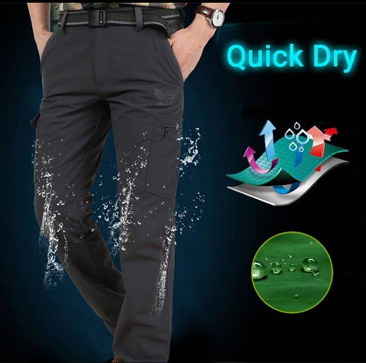 Military Style Tactical Pants Men's Thin Pants Cargo Work Army Breathable Waterproof Quick Dry Men Pants Casual Summer Trousers-in Casual Pants from Men's Clothing
