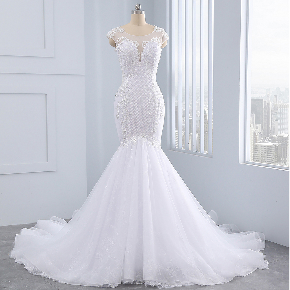 HIRE LNYER 100 Real Picture Beading Pearls Appliques Body Lace Organza More Layers Tulle Skirt Mermaid