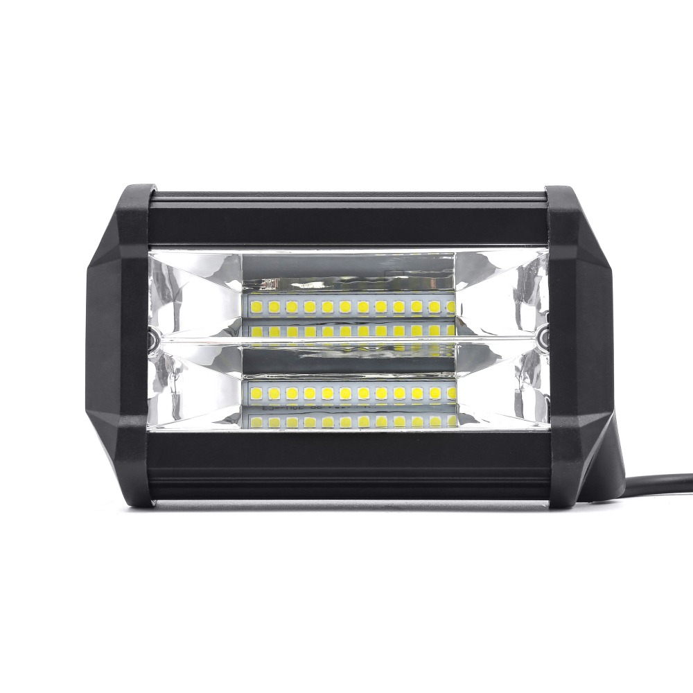 5'' Inch 72W LED Work Light Bar Flood Spot Driving Lamp For Jeep Truck Boat Offroad 4WD 4x4 LED Bar Car Accessories 12V 6000K waterproof 72w 4300lm 6000k 24 led white light car work project diy light bar dc 10 30v