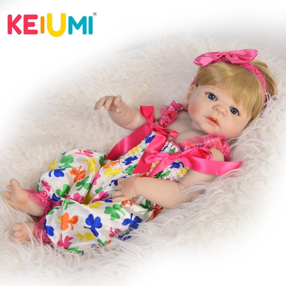 KEIUMI Alive 57 cm Full Silicone Vinyl Reborn Baby Doll Realistic Princess Gold Hairstyle Girl Reborn Doll Toy Kids XMAS GiftsKEIUMI Alive 57 cm Full Silicone Vinyl Reborn Baby Doll Realistic Princess Gold Hairstyle Girl Reborn Doll Toy Kids XMAS Gifts