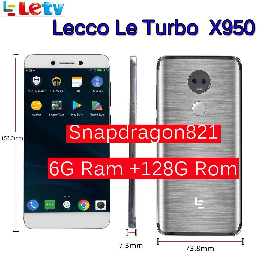 """Original Letv LeEco RAM 6 GB ROM 128 GB le Turbo X950 Dolby samsung 4G teléfono celular 5,5 """"pulgadas Snapdragon821 pk le max 2"""
