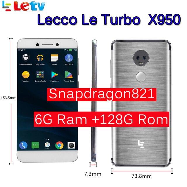 """Originale Letv LeEco di RAM 6GB di ROM 128GB le Turbo X950 Dolby con samsung dello schermo 4G Del Telefono Cellulare 5.5 """"Pollici Snapdragon821 pk le max 2"""