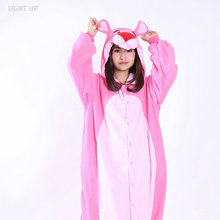 EIGHT UP Pink leopard Animal style pajamas cosplay costume onesie sets suitable for activities or programs party sleeping.