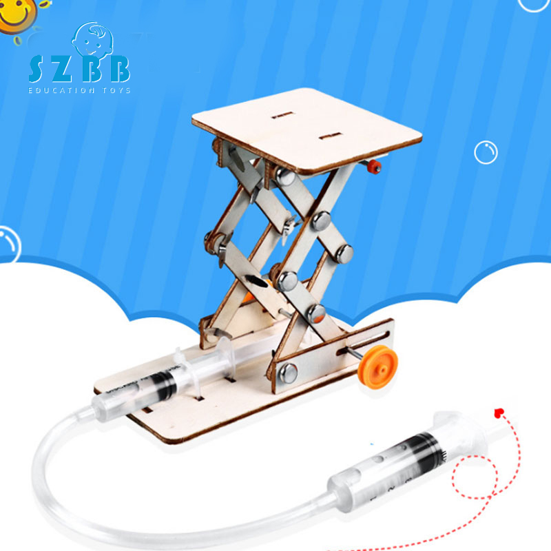 SZ STEAM DIY Toys for Children Physical Scientific Experiment Creativity Learning Educational Toy DIY Hydraulic Lifting Gift