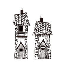 fairy house Clear Stamp for Scrapbooking Transparent Silicone Rubber DIY Photo Album Decor