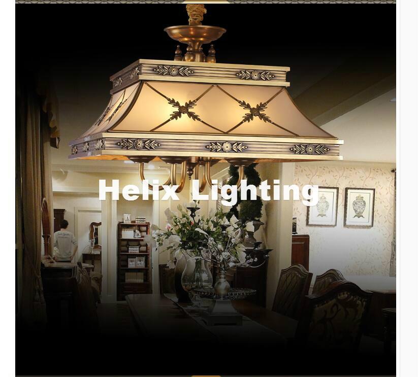 Decra Messing Kerze Kronleuchter AC90-260V 10 Arme Lampen Glas - Innenbeleuchtung - Foto 3