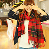 Brand New Fashion Winter Muffler Wool Cotton Blend Women Scarves Lady Long Color Plaid Shawl Keep