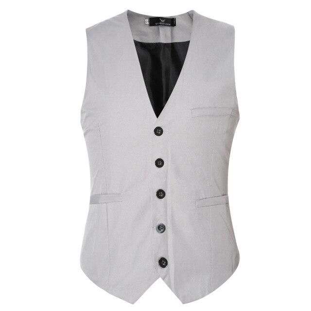 2017 New Spring Sale Mens Suits Vest Solid Wedding Banquet Party Man Casual Business Vest 9 Color Plus 6XL Beckham Vest MT955