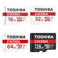 Original Toshiba Micro sd card Exceria U3 90M/s micro sd memory card 16GB/32GB/64GB/128gb TF best choice for 4K video for camera