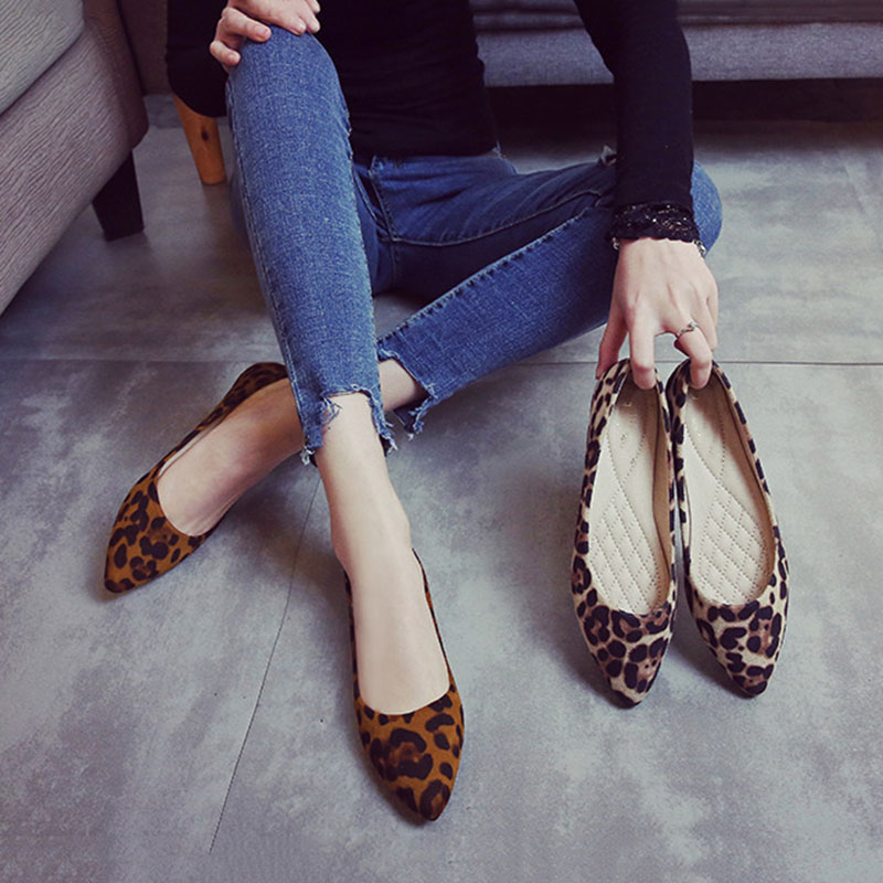 Women Shoes Ladies Flat Shoes Spring Summer Soft Causal Shoes Slip On Mother Shoes Leopard 2018 Newhigh quality