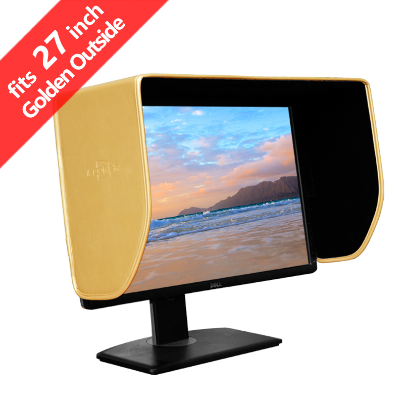 iLooker 27G 27 inch Golden Edition LCD LED Video Monitor Hood Sunshade Sunhood for Dell HP Viewsonic Philips Samsung LG EIZO NEC
