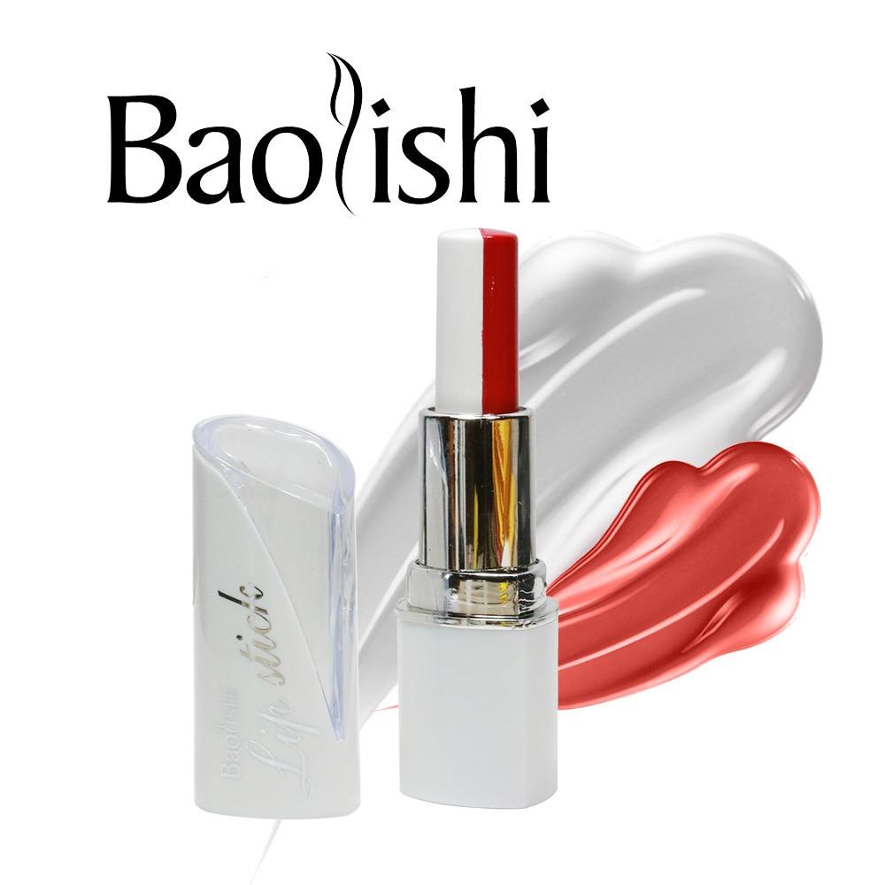 baolishi mencampur dua warna matte lipstik tahan lama lip balm warna - Riasan