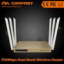 750 Mbps 802.11ac Dual Band wireless ac router wifi con 6 * 6dBi antena COMFAST CF-WR635AC 500 mW 128 MB de alta potencia del router wi fi