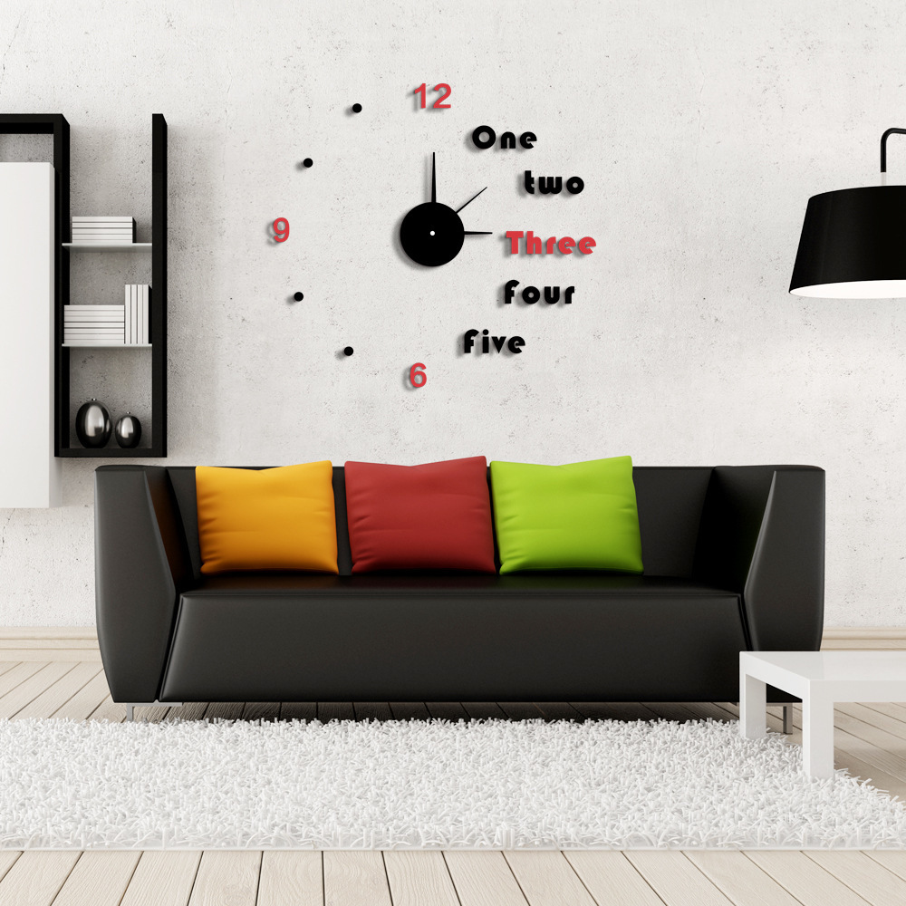 Whole Modern Unique Clock Design Diy Wall 2017 New Living Room Decor Clocks Metal Qt239 30sets In From Home